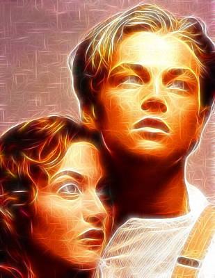 Kate Winslet Painting - Jack And Rose by Paul Van Scott