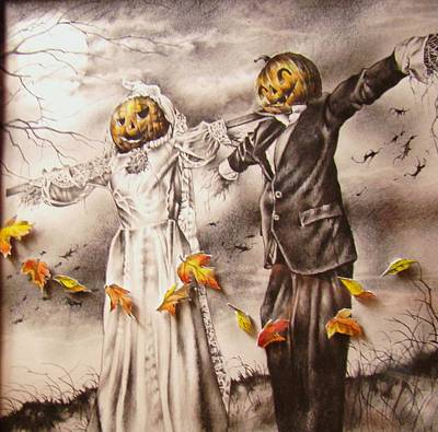 Mixed Media - Jack And Sally by Michael Lee Summers