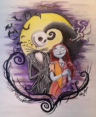 Jack Skellington Painting - Jack And Sally by Ryan Alsup