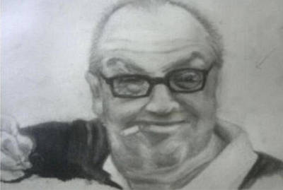 Jack Nicholson Drawing - Jack by Andrea Sher