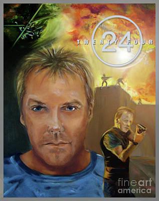 Jack Bauer - 24 - Poster Art Print by Gabriele Liedtke
