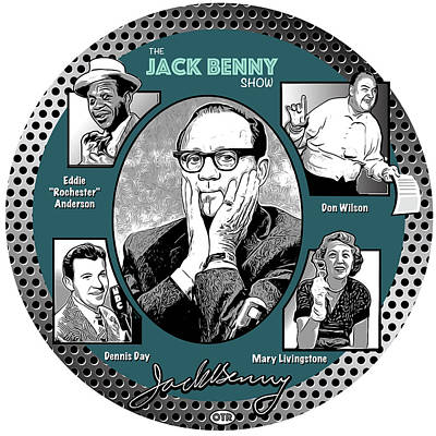 Digital Art Royalty Free Images - Jack Benny Show Royalty-Free Image by Greg Joens