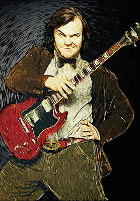 Panda Illustration Painting - Jack Black by Taylan Apukovska