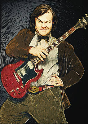Foo Fighters Painting - Jack Black by Taylan Apukovska