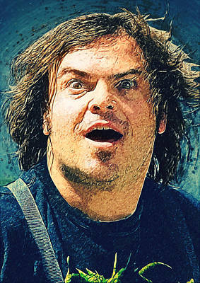 Led Zeppelin Digital Art - Jack Black - Tenacious D by Taylan Apukovska