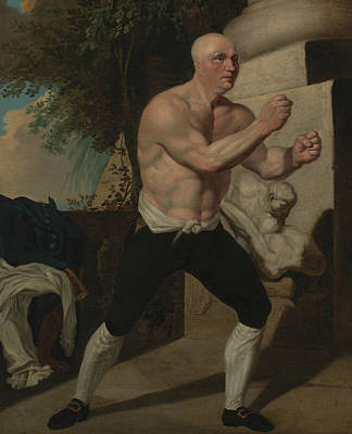 Painting - Jack Broughton, The Boxer by John Hamilton Mortimer
