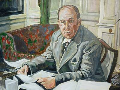 Painting - Jack C S Lewis by Bryan Bustard
