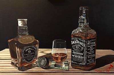 Scotch Painting - Jack Daniels Connoisseurs by Brien Cole