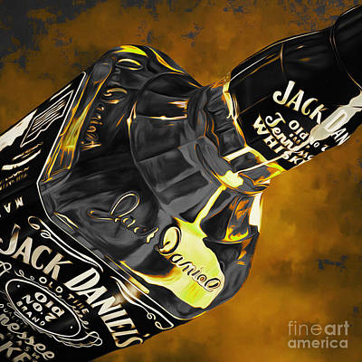 Painting - Jack Daniels  by Gull G