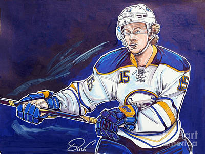 Nhl Hockey Drawing - Jack Eichel by Dave Olsen