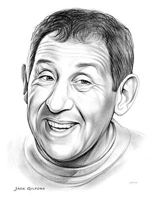 Jewish Drawing - Jack Gilford by Greg Joens