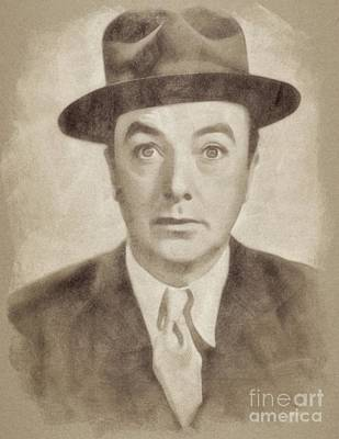 Musicians Drawings - Jack Haley, Hollywood Legend by John Springfield by Esoterica Art Agency