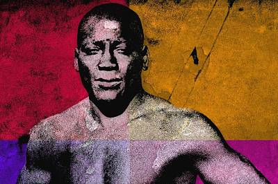 Heavyweight Mixed Media - Jack Johnson 3 by Otis Porritt