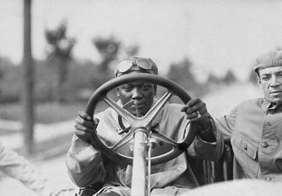 Transportation Royalty-Free and Rights-Managed Images - Jack Johnson Driving His Thomas Flyer by War Is Hell Store