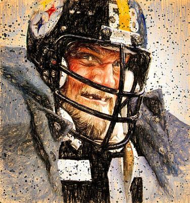 Pittsburgh Sports Painting - Jack Lambert Mr. Fierce by John Farr