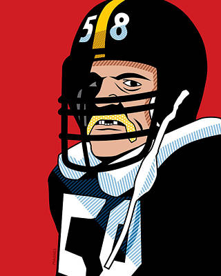 Hall Of Fame Digital Art - Jack Lambert by Ron Magnes