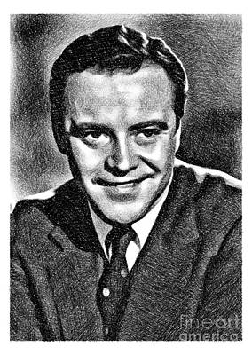 Musicians Drawings - Jack Lemmon, Vintage Actor by JS by Esoterica Art Agency