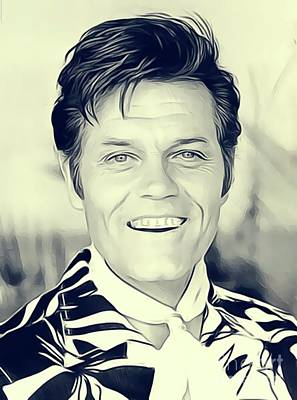 Musician Royalty-Free and Rights-Managed Images - Jack Lord, Vintage Actor by John Springfield