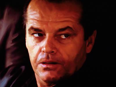 Jack Nicholson Painting - Jack Nicholson 2b by Brian Reaves