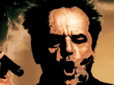 Cuckoo Mixed Media - Jack Nicholson 3c by Brian Reaves