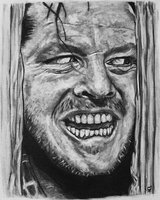 Jack Nicholson Drawing - Jack Nicholson As Jack Torrance by Harrison Larsen