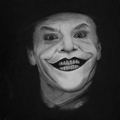 The Dark Knight Drawing - Jack Nicholson As The Joker by Robert Bateman