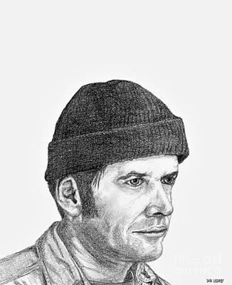 Jack Nicholson Drawing - Jack Nicholson by Dan Lockaby