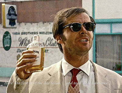 Jack Nicholson, Here's To First Of The Day Fellas, And To Ol D. H. Lawrence . ' Art Print by Thomas Pollart