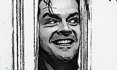 Photograph - Jack Nicholson In Pen And Ink by Doc Braham