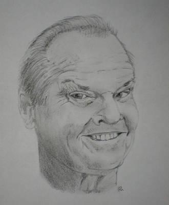 Jack Nicholson Drawing - Jack Nicholson by Randy McFall