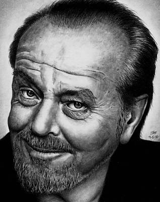 Drawing - Jack Nicholson by Rick Fortson