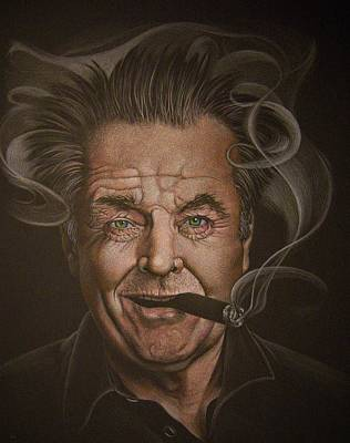 Jack Nicholson Drawing - Jack Nicholson by Rita Niblock