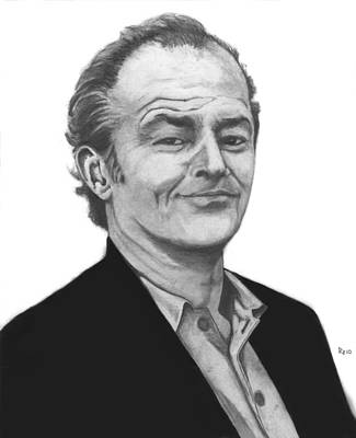 Jack Nicholson Drawing - Jack Nicholson by Russell Griffenberg