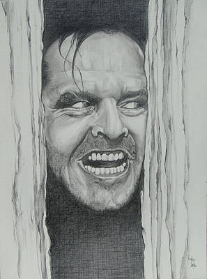 Drawing - Jack Nicholson by Stephen Sookoo