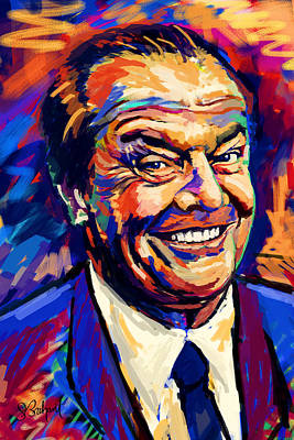 Painting - Jack Nicholson  by Sue  Brehant