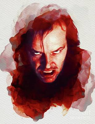 Actors Royalty Free Images - Jack Nicholson, The Shining Royalty-Free Image by John Springfield