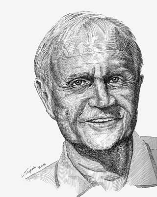 Drawing - Jack Nicklaus by Lawrence Tripoli