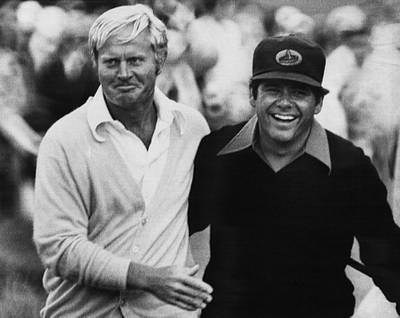 Us Open Photograph - Jack Nicklaus, Lee Trevino, At The U.s by Everett
