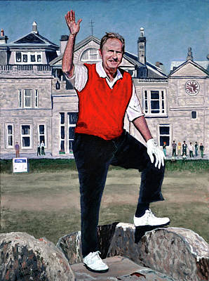 Painting - Jack Nicklaus by Stan Hamilton