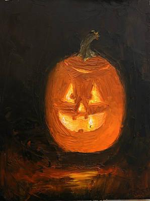 Jacko Painting - Jack O'lantern by Heather Olsen