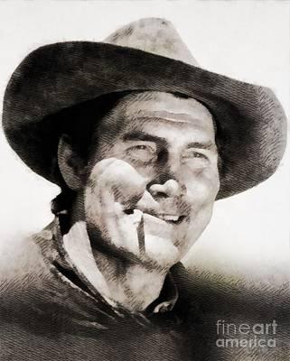Jack Palance Painting - Jack Palance, Vintage Actor by John Springfield