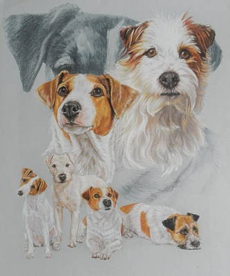 Mixed Media - Parsons Jack Russell Revamp by Barbara Keith