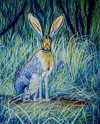 Meadowlark Painting - Jack Rabbit by Manuel Lopez