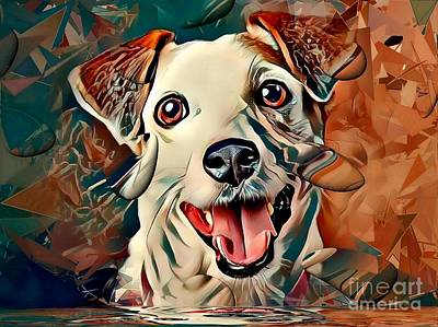Digital Art - Jack Russel Popart By Nico Bielow by Nico Bielow