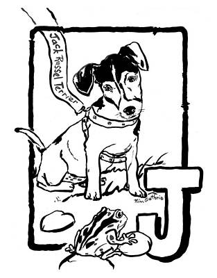 Wall Art - Painting - Jack Russel Terrier Dog Drawing by Kim Guthrie