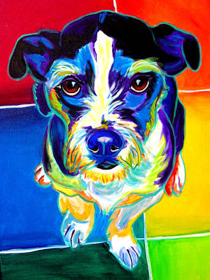 Jack Russell - Pistol Pete Art Print by Alicia VanNoy Call