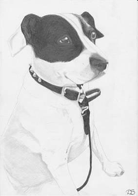 Jack Russell Cross Art Print