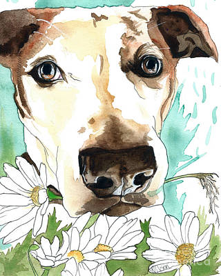 Painting - Gracie Jack Russell by D Renee Wilson