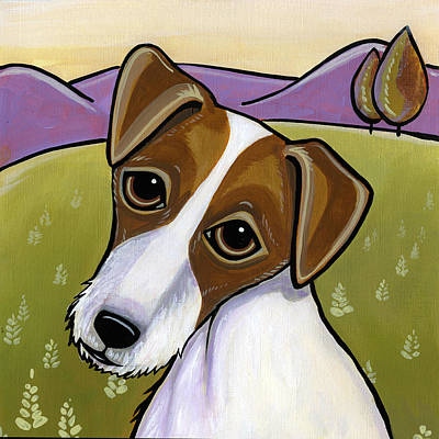 Painting - Jack Russell by Leanne Wilkes
