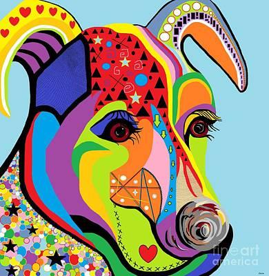 Terrier Digital Art - Jack Russell Terrier by Eloise Schneider